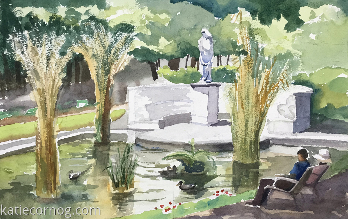Tulleries Garden Pond (large view)