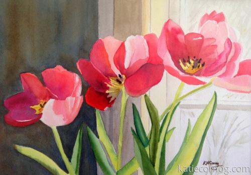 Tulips in a Window