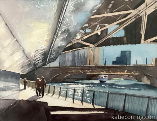 Chicago Bridge by Katie Cornog