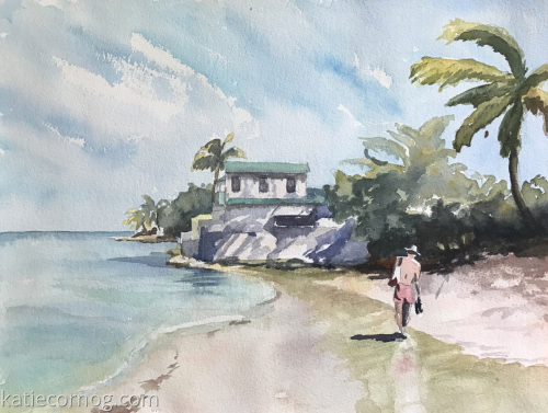 Leaving Mullin's Beach - Barbados (large view)