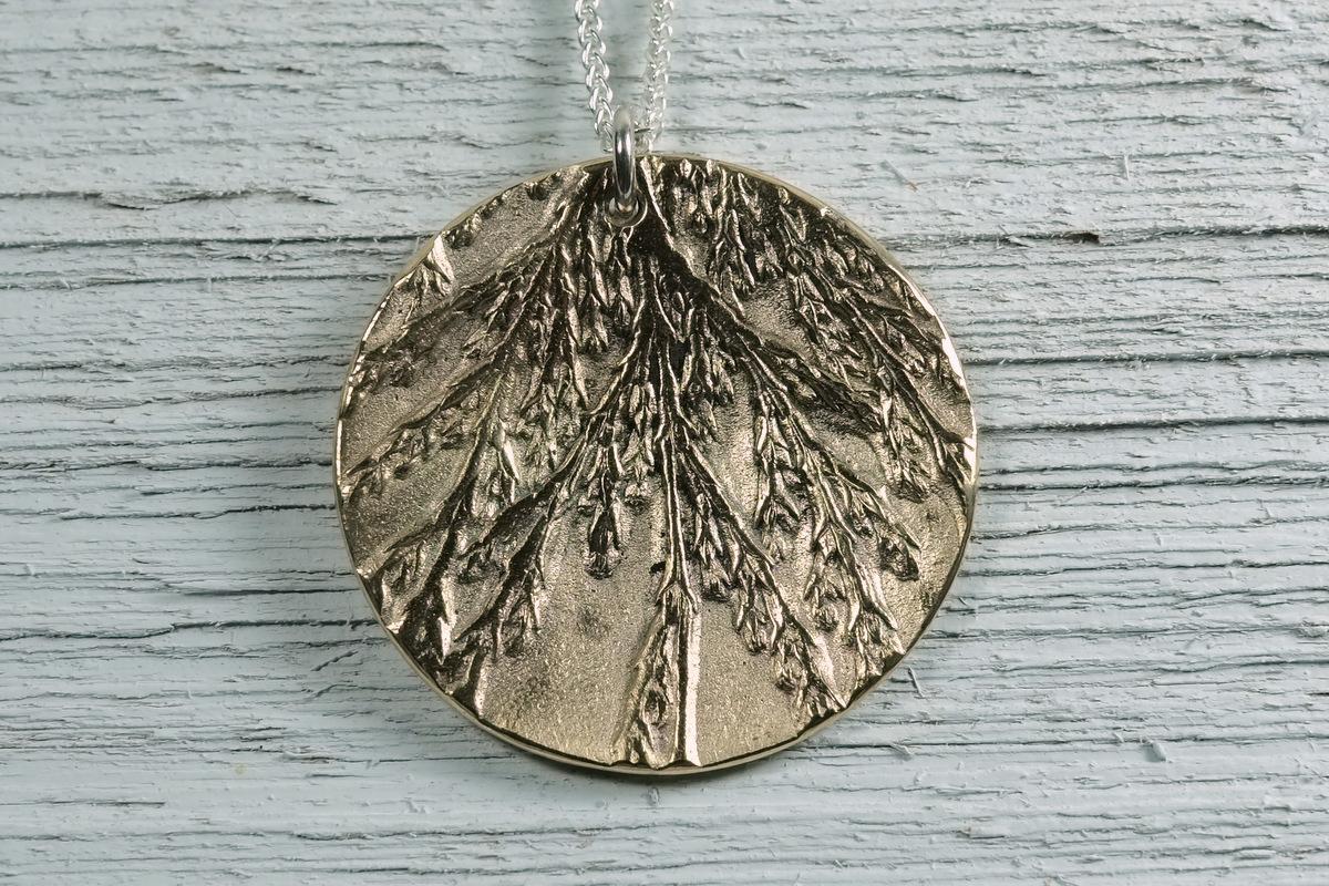 Bronze Cedar Pendant (large view)