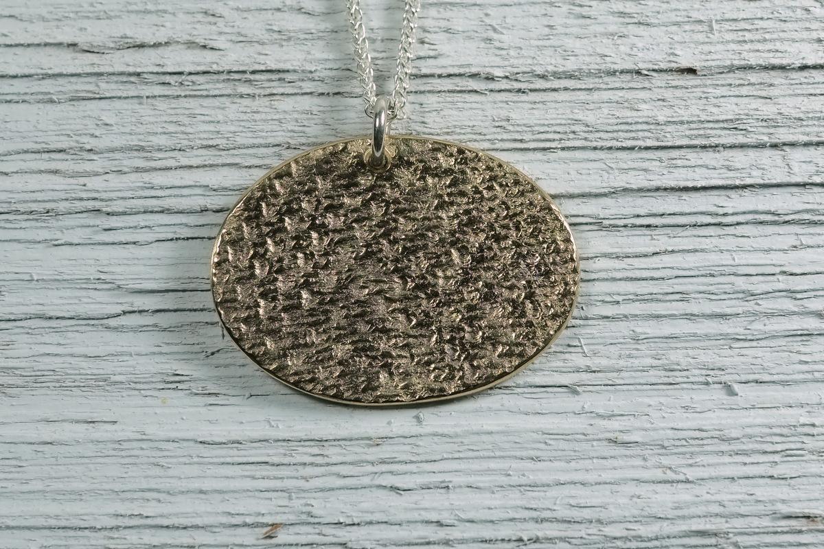 Bronze Brioche Stitch Pendant (large view)