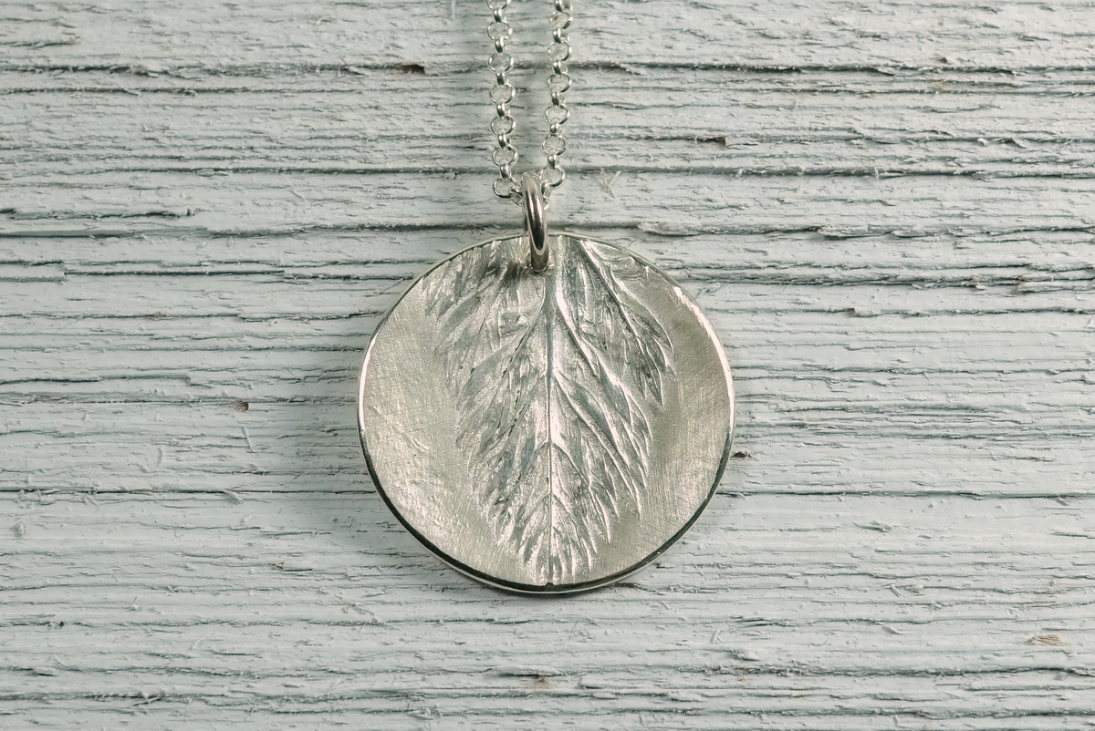 Silver Carrot Tops Pendant (large view)
