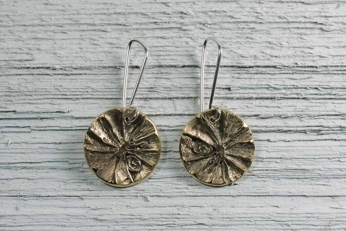 Bronze Lime Slice Earrings (large view)