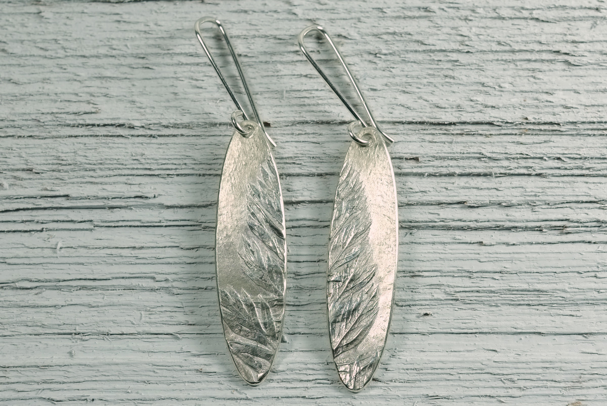 Silver Carrot Tops Earrings (large view)
