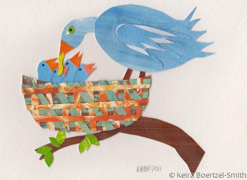 Mama and Baby Birds