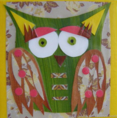 Owl on a canvas