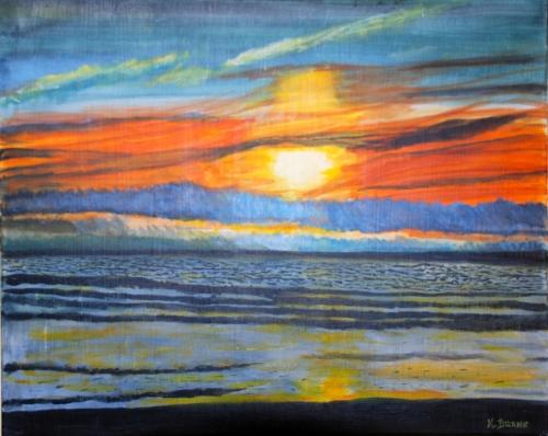 Sun and sea harmony by kfburnsartworks.com