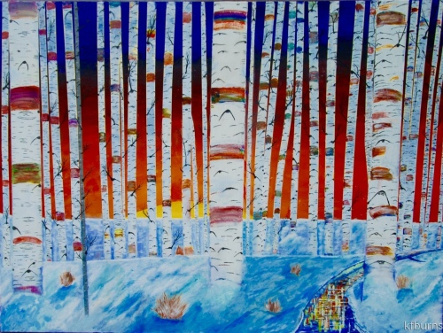 30 Birch Trees by kfburnsartworks.com
