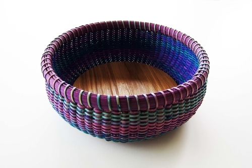 Multi-colored Nantucket basket