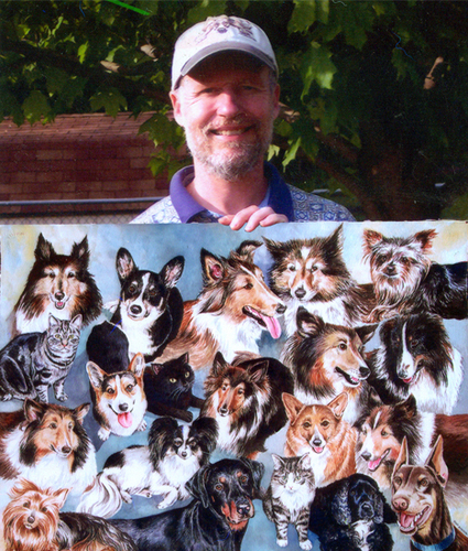 20 pets in one big painting!