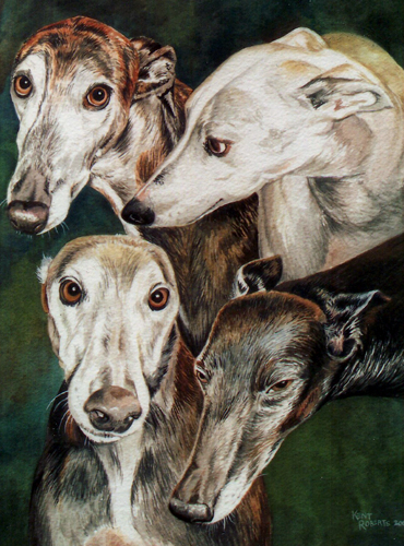 Four Greyhounds