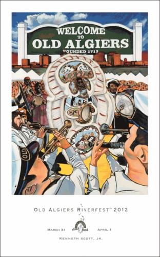 2012 Old Algiers RiverFest Poster
