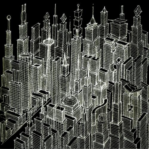 DRAGON CITY SKETCH by KEVIN DWORAK
