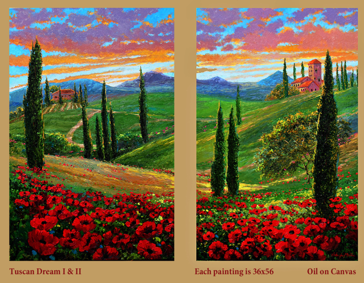 Tuscan Dream 1 & 2 Dyptich (large view)