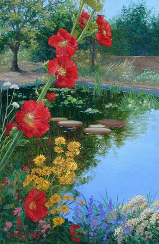Hollyhock Reflections
