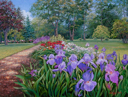 Iris and Peonies (large view)