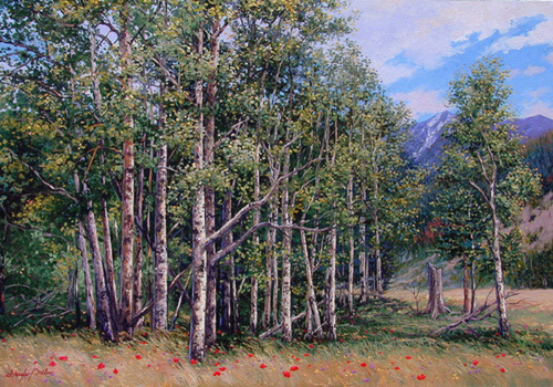 Summer Aspens (large view)