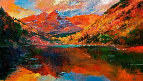 Aspen Mountain Reflections