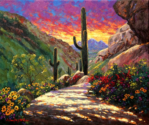 Just Another Day in Paradise Original Oil