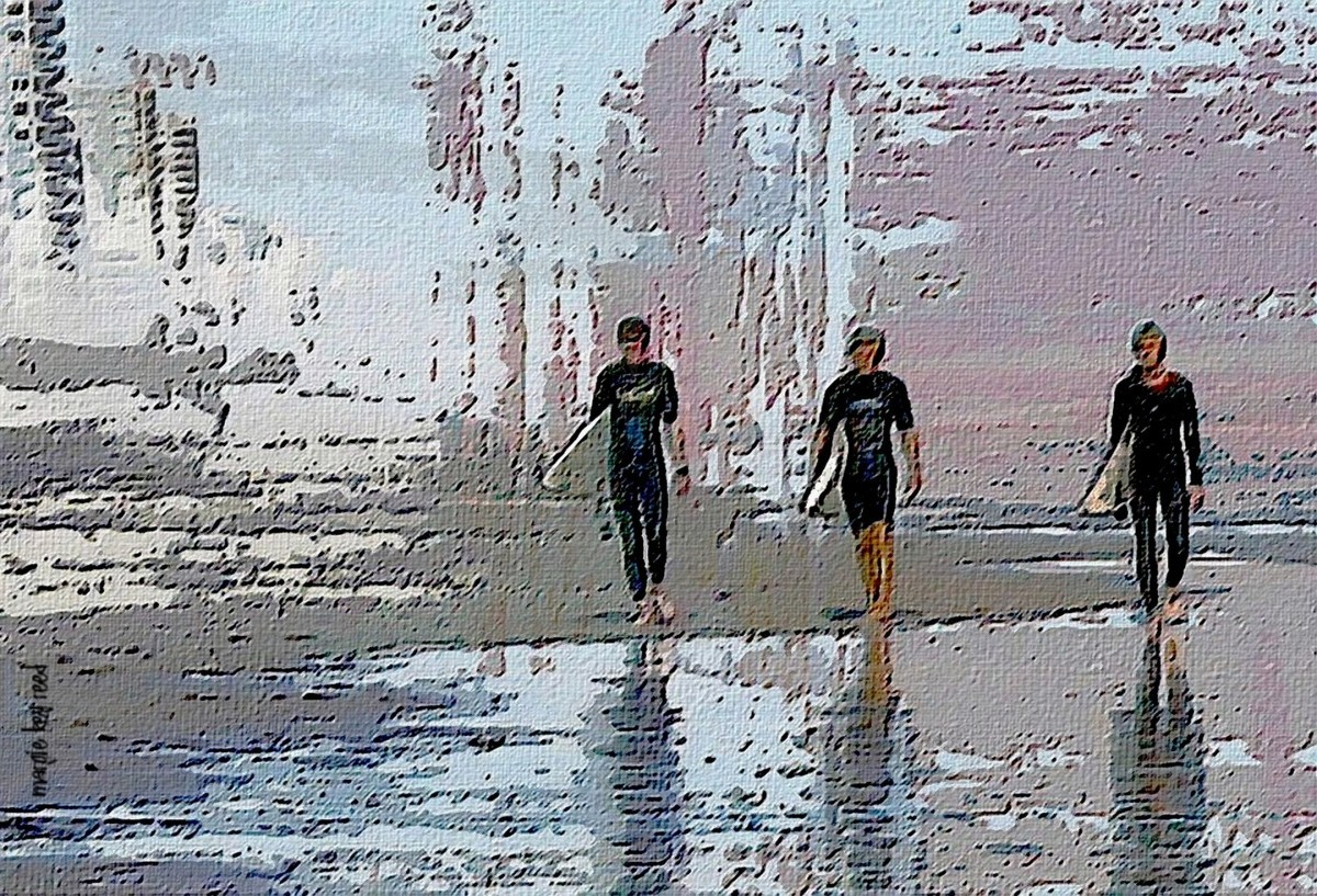 Three Surfers (large view)