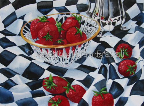 Strawberries and Cream  Sold (large view)