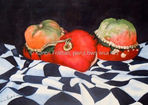 Turban Squash by Karen Frattali, pwcs. bws, wsa.