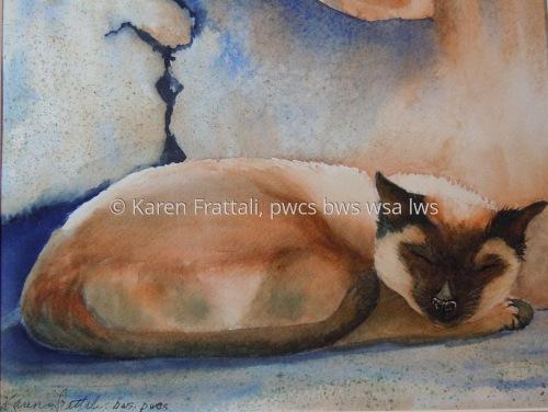 Il Gatto by Karen Frattali, pwcs. bws