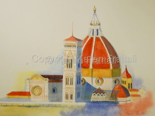 Duomo of Florence, Italy   by Karen Frattali, pwcs. bws