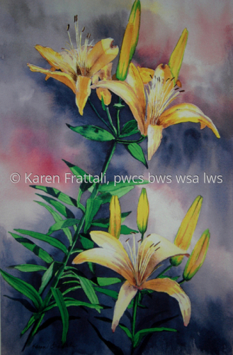 Golden Glow  by Karen Frattali, pwcs. bws