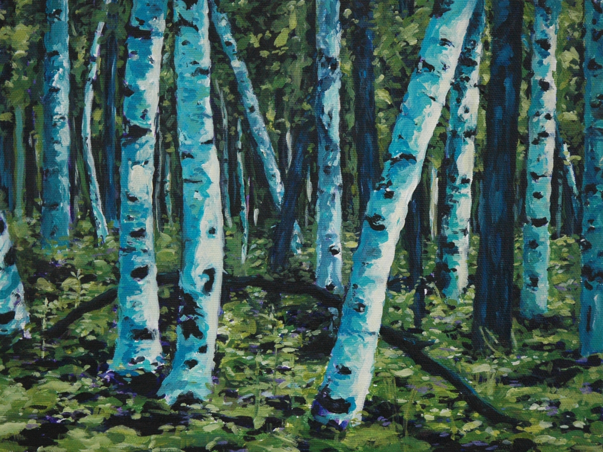 Potawatomi Birches (large view)