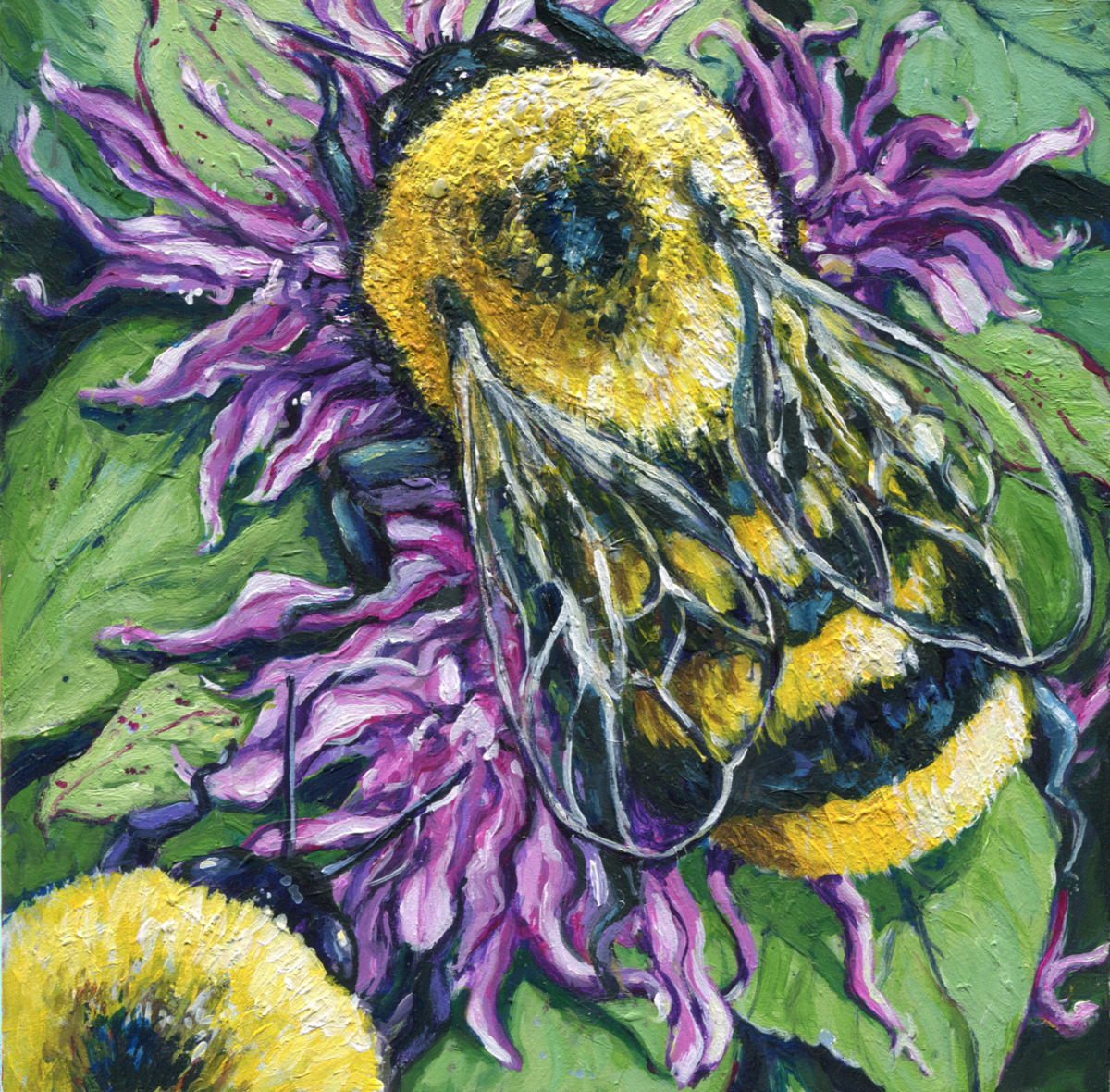 Bees and Bergamot (large view)