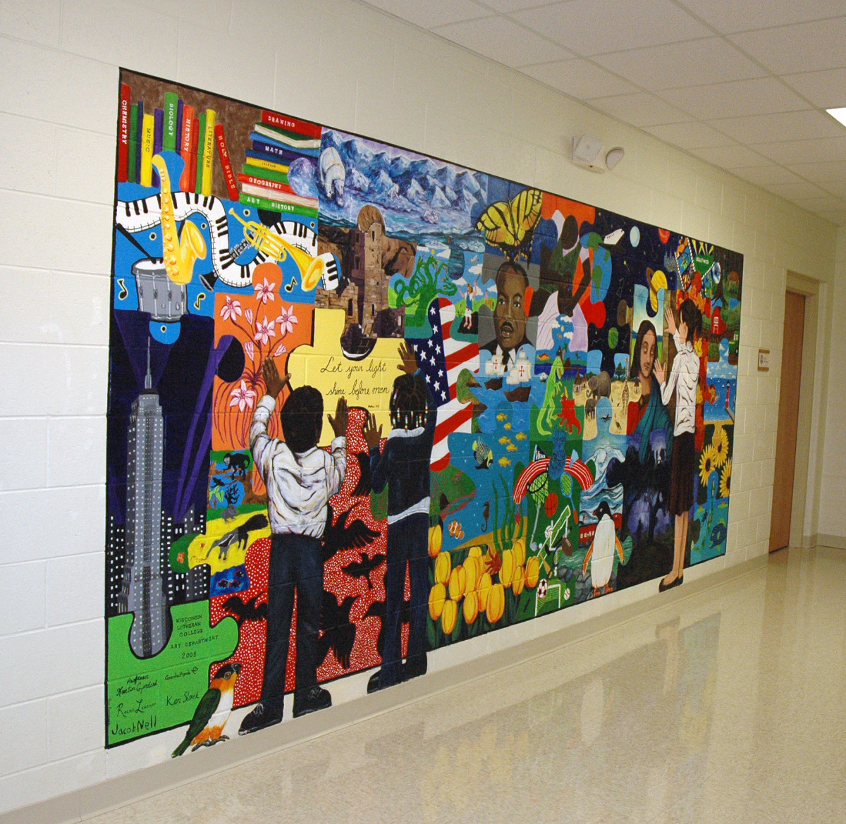 "Garden Homes Lutheran School Mural - ""The Puzzle Mosaic"" (large view)"