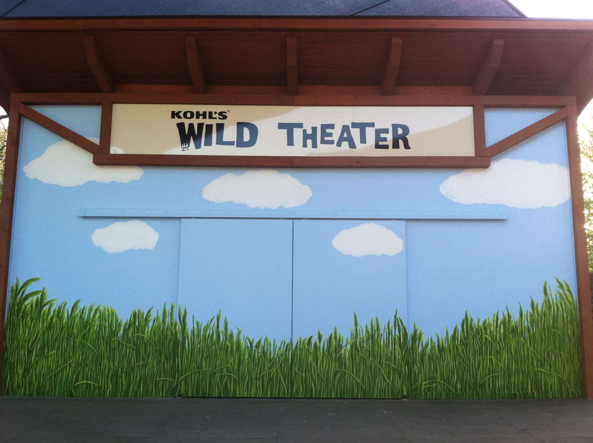 Kohl's Zoo Theater Mural (large view)