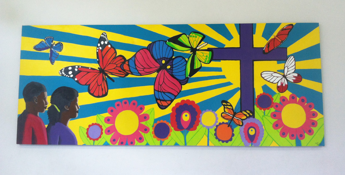 Mural for Grace Lutheran in Grenada, West Indies, 2014 (large view)