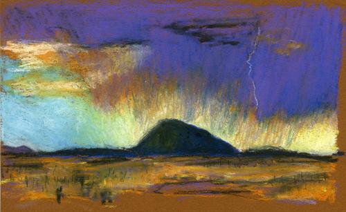 Storm on Horizon at Sleeping Ute (large view)