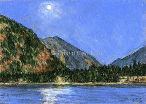 Moonlight Over Lake McDonald (large view)
