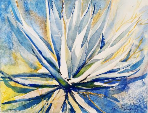 Agave Sword Cactus by Karin Harris