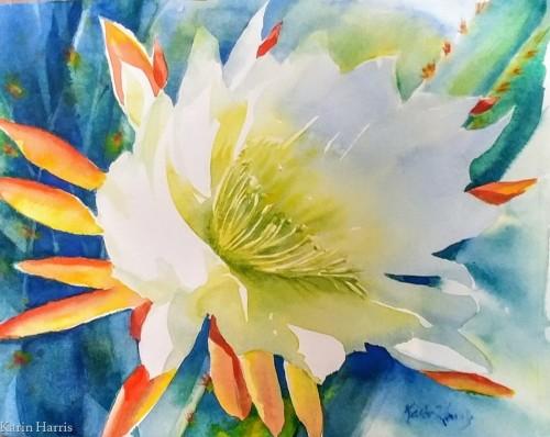 White Torch Cactus by Karin Harris