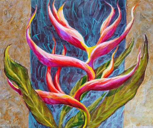 Exotic Heliconia by Karin Harris