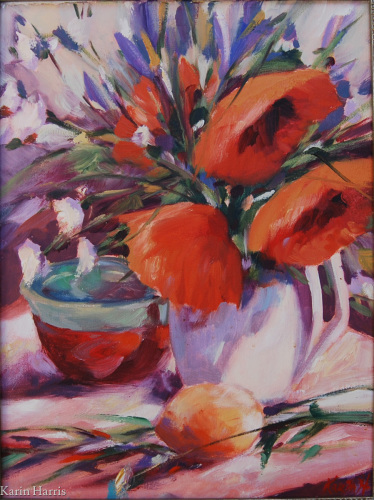 Poppies and Vase