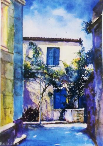 Poros Greece Village Home by Karin Harris