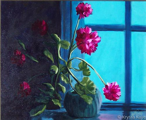 Geraniums by the Window (large view)