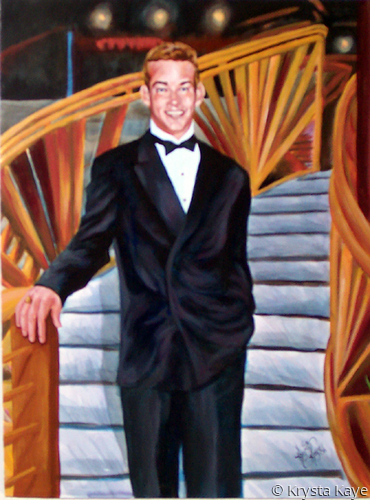 Portrait Gentleman Descending Staircase