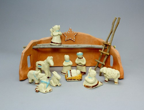 Southwest Nativity Set by Karlene Koch Voepel