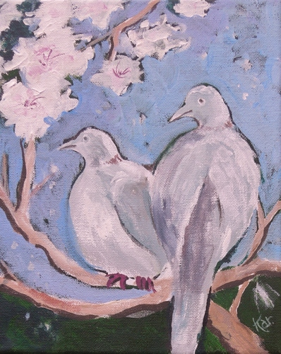 Doves in the Apricot Tree 2
