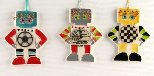 Robot Ornament - Sold Individually by Karlene Koch Voepel