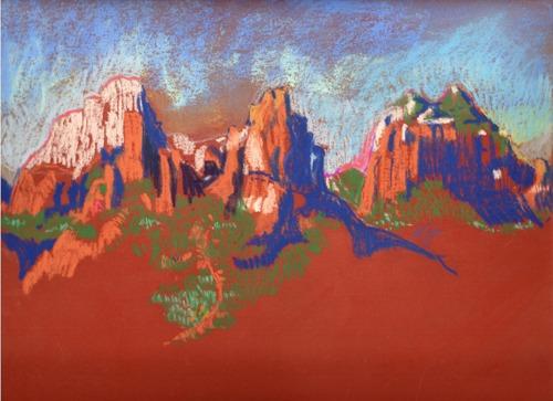 View from Schnebly Hill by Karlene Koch Voepel