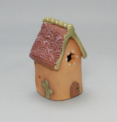 Tall Tiny Southwest Houses with Chimney - Sold Individually