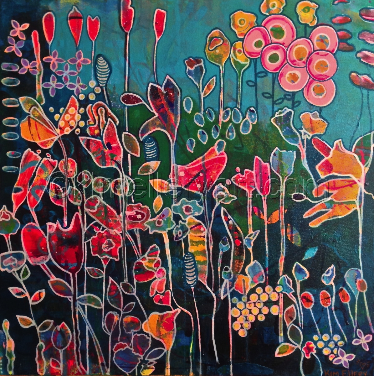 Painting Fields Of Flowers 10 MARLA Original Art By